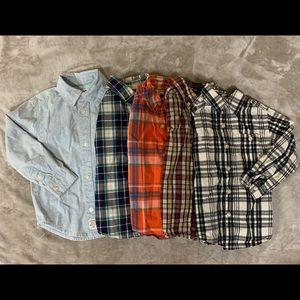 Toddler Boys | Carter's Button-dow Shirt Bundle
